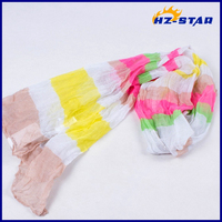 HZW-13527001 hot sale funcy ladys office suit long colorful hijab scarf pin