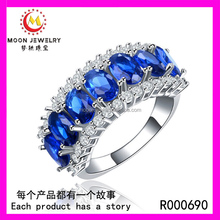 Whole Jewelry Latest Designs Colorful Diamond Ring Engagement 925 Sterling Silver Zircon Wedding Ring