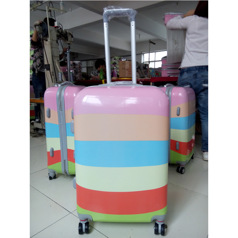 Print Luggage Wheeled Travel luggage Cabin Trolley Case