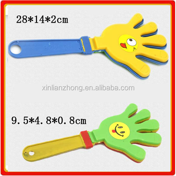 Factory product plastic hand clapper noisy maker toy