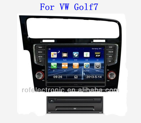 Car audio for VW GOLF7 with Bluetooth Phone Book Support 3G