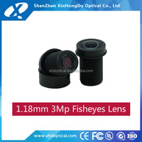Super wide Angle M12x0.5 5 megapixel 360 degree fisheye lens for cctv camera