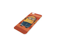 dual usb minions clear phone case for children