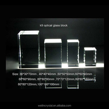 higg quality k9 crystal blank block for laser engraving