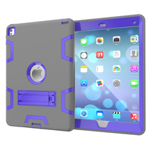 2 Colors Hybrid Shockproof Case with Stand 3 in 1 Case for iPad Air 2 Case