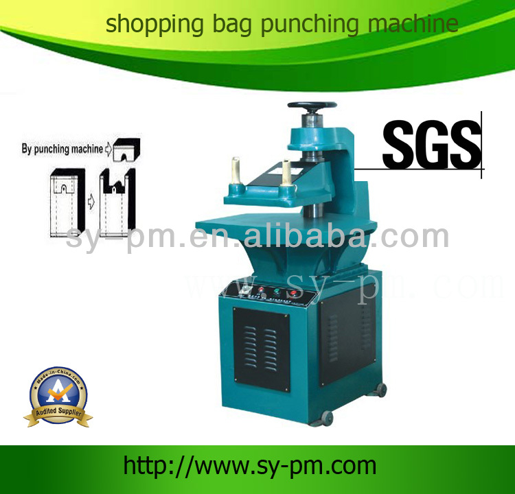 10T Hydraulic plastic bag handle punching machine