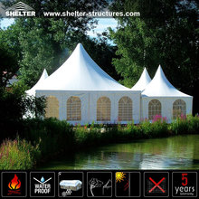 Custom 6x6m canopy tent with clear span structure gazebo marquee pagoda tent for outdoor commercial event