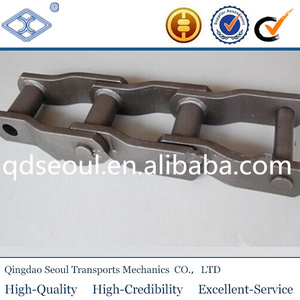 ISO standard pitch152.4mm WH110 high fatigue resistance welded steel pulp and paper mill cranked link drag chain