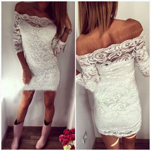 F40184A 2017 Hot sale casual lace women party wear dress