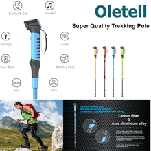 2017 top selling products nordic walking mountaineering sticks with selfie function