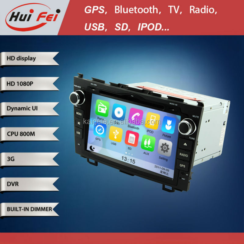 HuiFei Virtual Disc HD 1080P support 3G WiFi iPhone New Interface Car Audio for Honda CRV