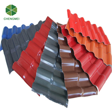 Long life green plastic roof covering tile