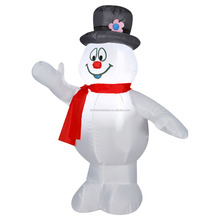 Outdoor giant inflatable christmas singing snowman