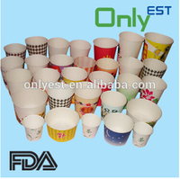 OEM available tasting 4oz mini disposable paper cups for supermarket