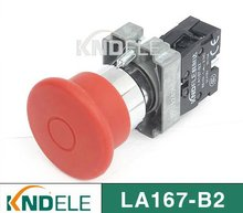 40mm waterproof red mushroom push on push off switch ,grade A ,LA167-B2-BT,B2-BX