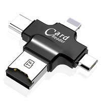 4 in 1 Phone Accessories high speed 3.1 Micro USB OTG Card Reader Adapter For Android IOS iphone