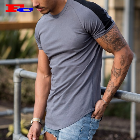 Hot Selling Muscle Fit T Shirts of 95% Cotton 5% Elastane For Mens Camo Sports Gym Clothes