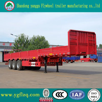 high quality tri-axle plate wall side semi trailer for sale