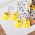 custom little emoji keychain/customized funny 3D led keychain OEM manufacturer