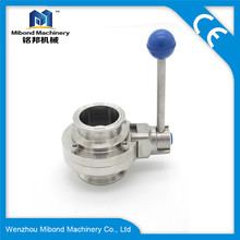 Sanitary Stainless Steel Clamp Butterfly Valve For Water