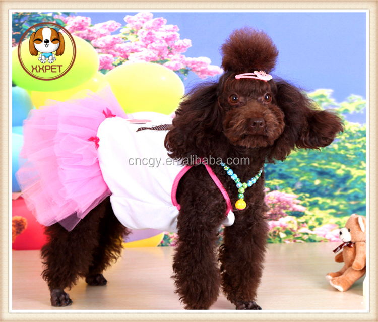 Pet Dog Cat Bling Tutu Dress Lace Skirt Puppy Clothes Dog Party Dress