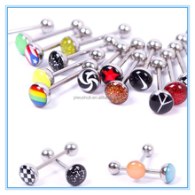 Fashion 316Lstainless steel barbell tongue ring body piercing jewelry