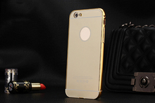 2 in 1 metal mirror cell phone case with cheap shipping for iphone 6s 7 plus for samsung s6 s7