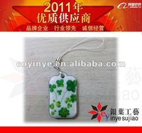 green flower pvc cell phone /bag ornament with light