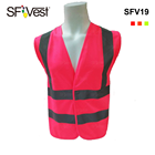 new design high visibility safety vest with pink color waistcoat women vest reflecting construction clothing ppe