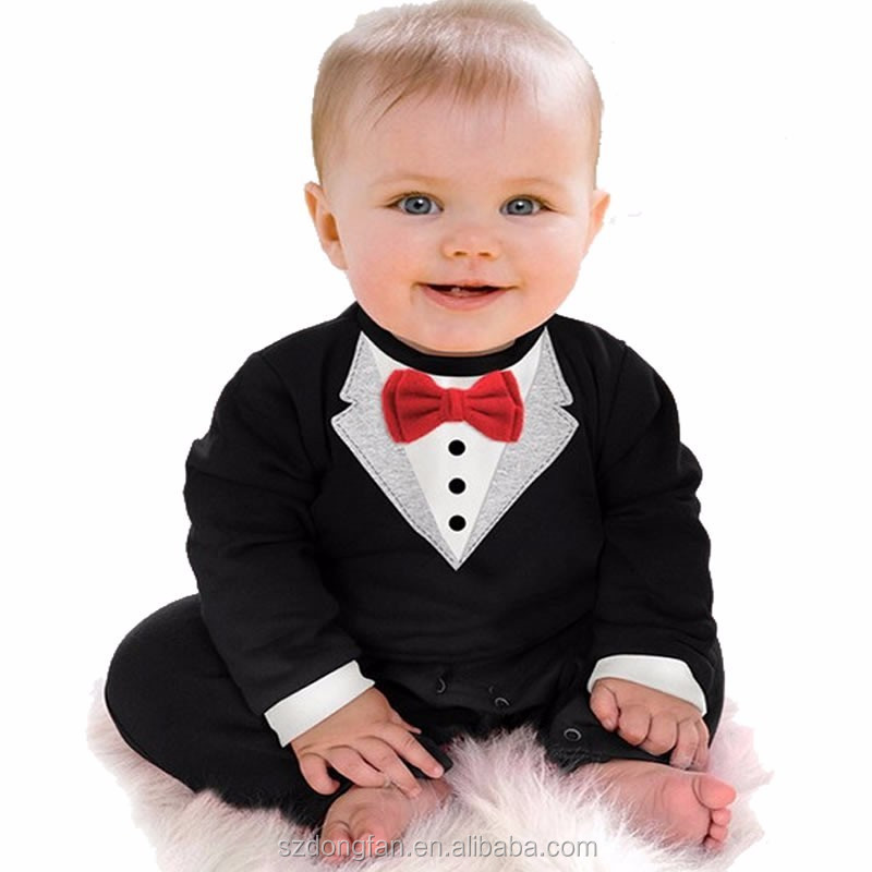 Newborn Baby Clothes Romper Baby Boy Clothes Tie Gentleman Toddler One-pieces Jumpsuit Baby Clothes 0-24 Month