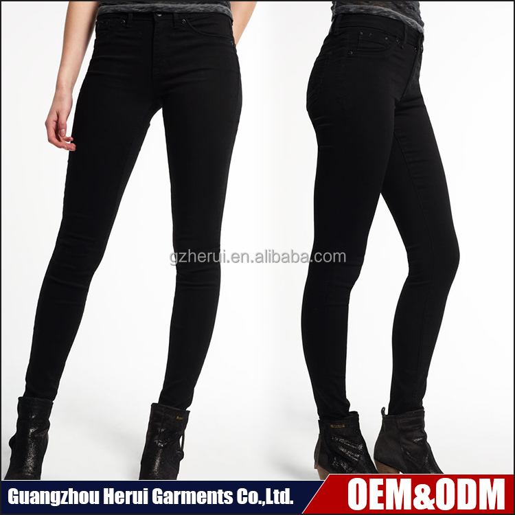 New Arrival 100% Cotton Ladies Sexy Leggings Black Jeans Trousers High Quality Fancy Girls Skinny Denim Jeans For Women