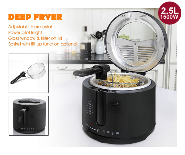1500W 2.5L home deep fryer with themostat XJ-10304