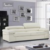 White Color Contemporary Sofa Italian Leather Sofa 3+2 seater