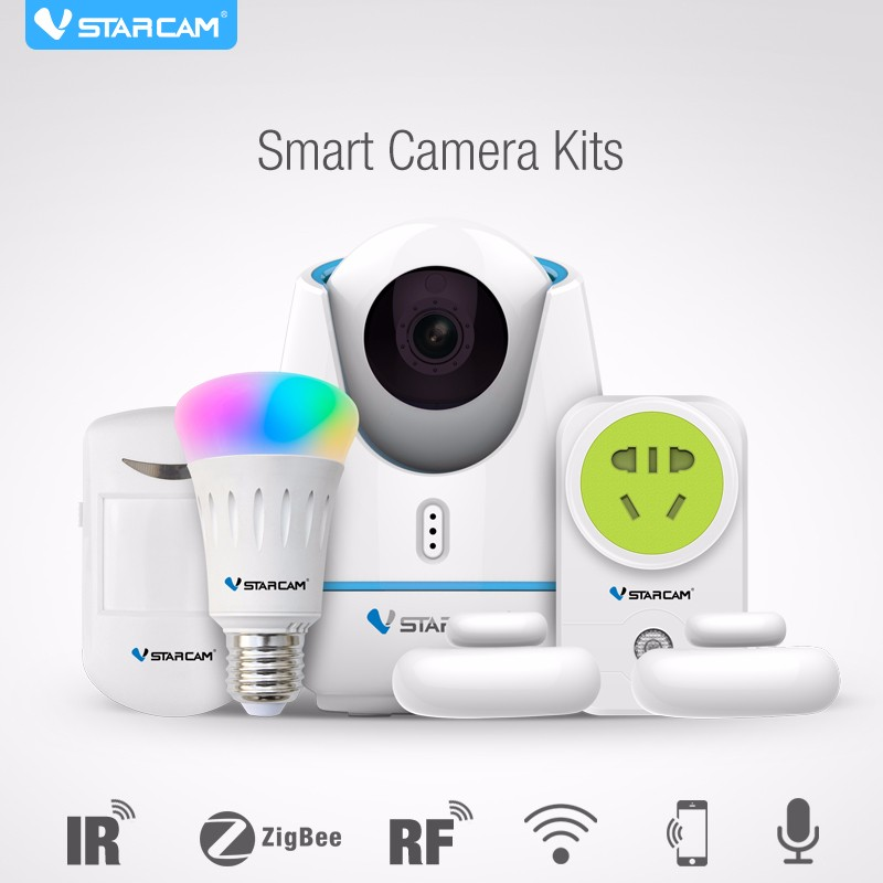 VStarcam E27 Smart Home Camera Kits For <strong>Wifi</strong>,IR,RF,Zigbee Controlling For Home Application