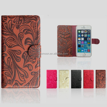 Wholesale price redbud pattern pu leather mobile phone case cover for huawei g610, g630, g730