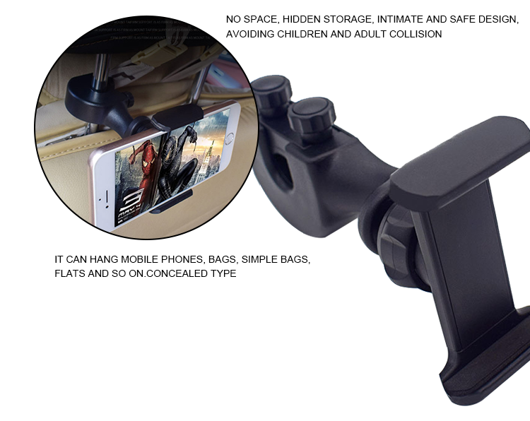 SJ-Z-010 Three-in-one car headrest mobile phone holder rear seat mobile phone holder