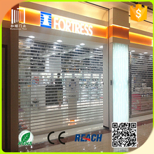 Transparent Bulletproof Roll Top Shutter Door