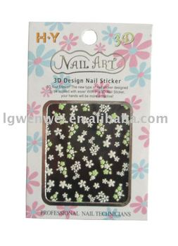 Flower 3D nail sticker