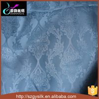 damask pattern jacquard 100%raw silk brocade fabric