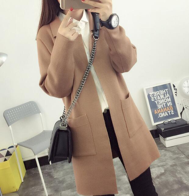 zm32618a classic knitting pattern coat ladies fancy loose long cardigan for women