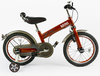 Classic simple red hard steel children outdoor exercise bike with rubber tyres