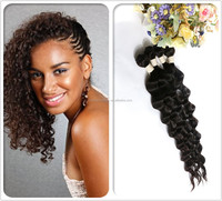 Factory Price wholesale hair 100 % natural brazilian deep wave human hair