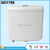 Plastic PP material wall hanging full & partial flush toilet water tank