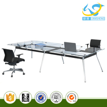 Aluminum frame with power coated glass table for conference room