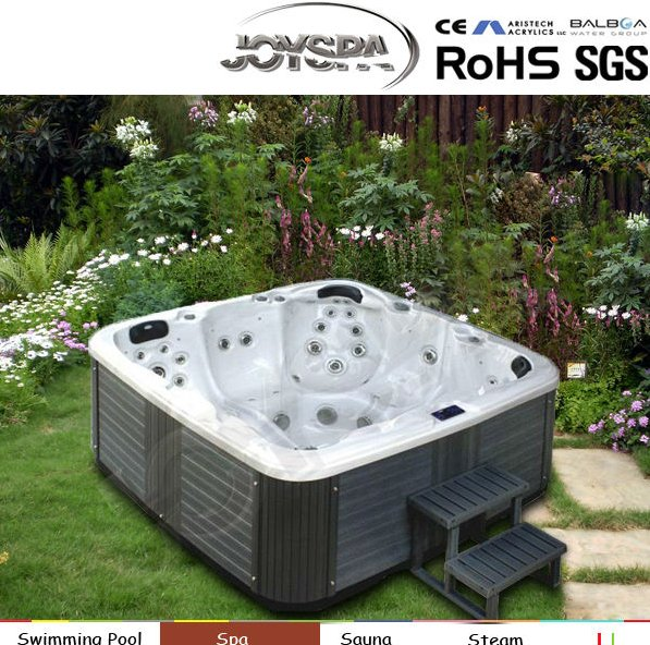 Freestanding spa jets massage portable bath tub pool water waterfalls
