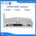 Fiber optic router ftth triple play2fxs + wifi 4fe gpon ont