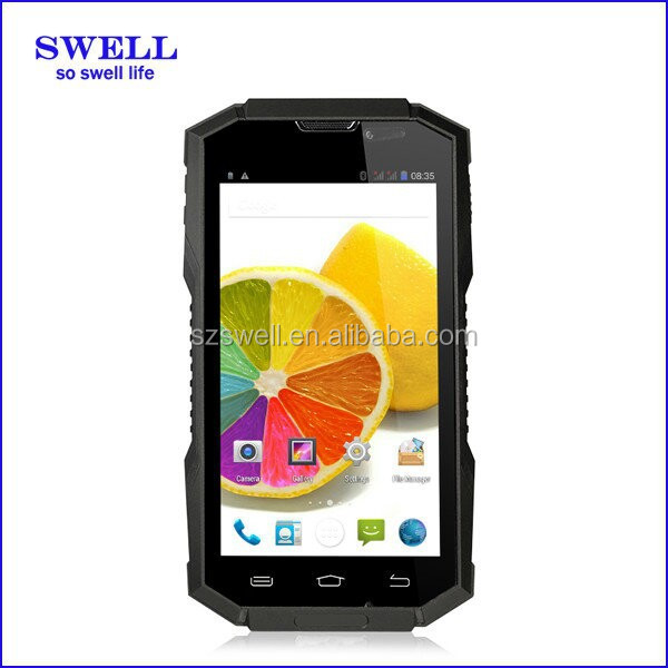 2016 high quality mobile phone OEM brand software 5inch touch screen 1GB 8GB IP68 rugged waterproof phone