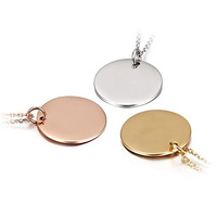 Olivia custom stainless steel jewelry high polished blank 18k gold custom logo gold tags pendant