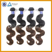 100% body wave brazilian 1b/4 remy hair extensions colored two tone hair weave for black women