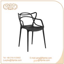 Black Popular high quality good price pp plastic cat ear dining chair